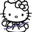 "Hello Kitty Nurse Decal Sticker 8""L x 6""W"