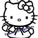 "Hello Kitty Nurse Decal Sticker 8""L x 6""W"