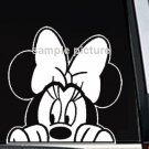 "Minnie Mouse Peeking Decal Sticker 7""L x 7""W"