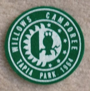 1964 Willows CAMPOREE Tapia Park Patch New Condition