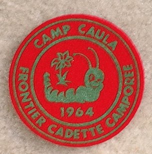 Lot 10, 1964 Camp Caula Frontier Cadette CAMPOREE Patch New Condition