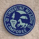 1963 Timberline Meadow CAMPOREE Patch New Condition
