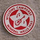 1965 Willows CAMPOREE Mineral Wells Patch New Condition