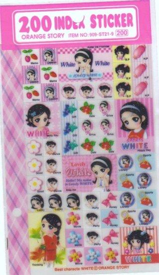 0range Story light pink stickers