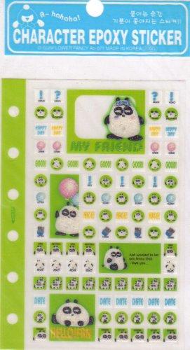 Character sticker Green
