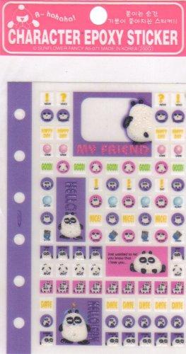 Character sticker Purple