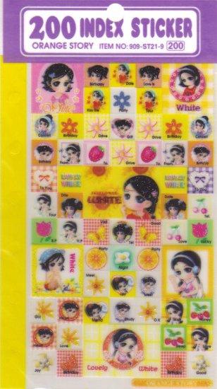 Orange Story Yellow Stickers