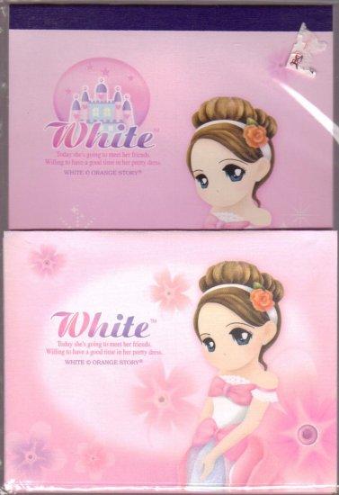 1 Orange Story Pink letter pad set