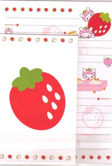 Kawaii strawberry letter set
