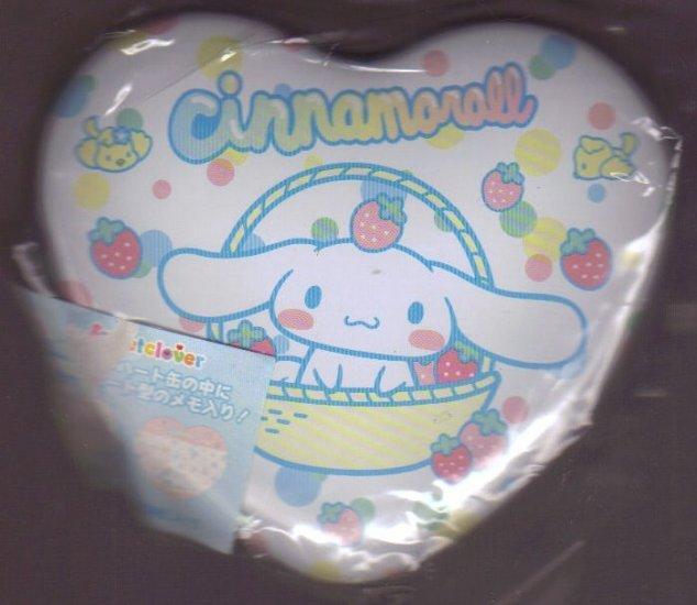 Cinnamonroll memo set in tin can