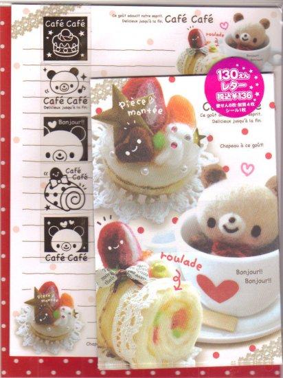 Kamio Cafe Bear Small letter set