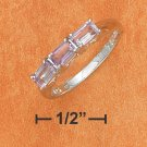 TRIPLE 5X3MM EMERALD CUT AMETHYST RING