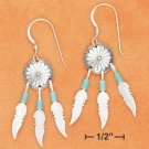 STERLING SILVER CONCHO TURQUOISE EARRINGS
