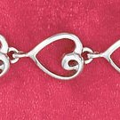 "7"" SS HP 8MM OPEN HEART LINK BRACELET"