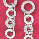 STERLING SILVER CZ  PLAIN and SILVER CIRCLES EARRINGS