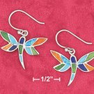 SILVER TURQ/SPINY OYSTER/LAPIS/LAB OPAL DRAGONFLY EARRINGS