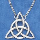 "SILVER 18"" ANTIQUED TRIANGLE CELTIC CABLE CHAIN NECKLACE"