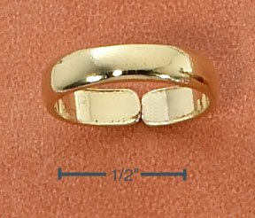: STERLING SILVER 14K GOLD VERMEIL PLAIN BAND TOE RING
