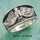 STERLING SILVER ANTIQUED MENS FLYING EAGLE BAND