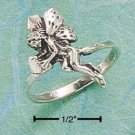STERLING SILVER FAIRY HOLDING HEART RING