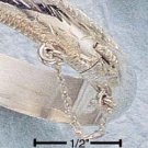 STERLING SILVER 7MM ETCHED BABY BANGLE BRACELET
