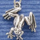 STERLING SILVER LARGE FOOTED FROG CHARM