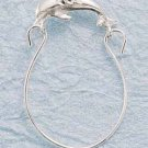STERLING SILVER DC DOLPHIN CHARMHOLDER