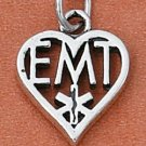 "STERLING SILVER ""EMT"" HEART CHARM"