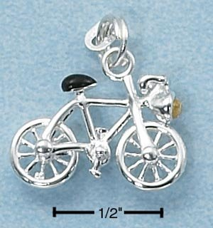 STERLING SILVER ENAMEL BICYCLE  CHARM