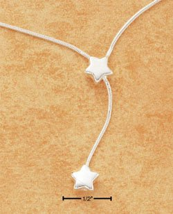 "STERLING SILVER 9-10"" ANKLET W/ STAR & STAR DANGLE"