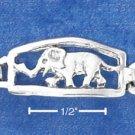 STERLING SILVER ANTIQUED ELEPHANT LINK BRACELET