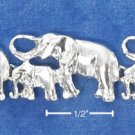 STERLING SILVER BIG & LITTLE ELEPHANTS BRACELET