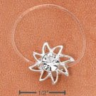 STERLING SILVER JELLYWIRE SUN W/ CLEAR CRYSTAL TOE RING