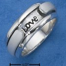 "STERLING SILVER ""LIVE WITH ME & BE MY LOVE"" SPINNER RING."