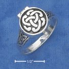 STERLING SILVER ANTIQUED CELTIC KNOT POISON RING.