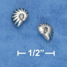 STERLING SILVER SNAIL MINI POST EARRINGS W/ INLAID PAUA SHELL