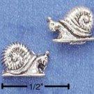 STERLING SILVER SNAIL POST EARRINGS (LEFT & RIGHT