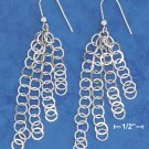 STERLING SILVER HP 4 STRAND EARS W/ INTERLOCKING FLAT CIRCLE STRANDS