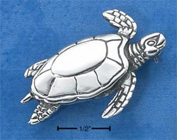 STERLING SILVER SEA TURTLE PIN