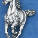 STERLING SILVER ANTIQUED RUNNING HORSE PENDANT
