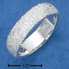STERLING SILVER WOMENS 5MM WIDE  STARDUST BAND.