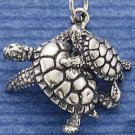 STERLING SILVER MOM & BABY TURTLE CHARM
