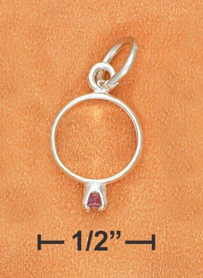 STERLING SILVER BIRTHSTONE RING WITH JUNE CZ