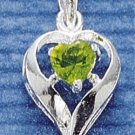 STERLING SILVER AUGUST CZ HEART CHARM