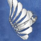 STERLING SILVER LONG FANNED DESIGN RING.