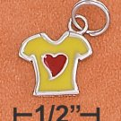 STERLING SILVER RP REVERSIBLE 10X12MM ENAMEL T-SHIRT   CHARM