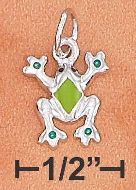 STERLING SILVER HP SMALL FROG CHARM