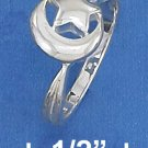 STERLING SILVER HP 9MM HP CRESCENT MOON & STAR RING