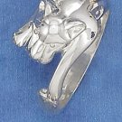 STERLING SILVER HIGH POLISH 10MM COUGAR HEAD AND BODY RING.