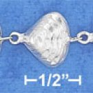 "STERLING SILVER 7""  CLAM SHELL LINK BRACELET"